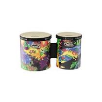Percusión Bongos 5.6 Diámetros Rain Forest Tela De Remo Kid
