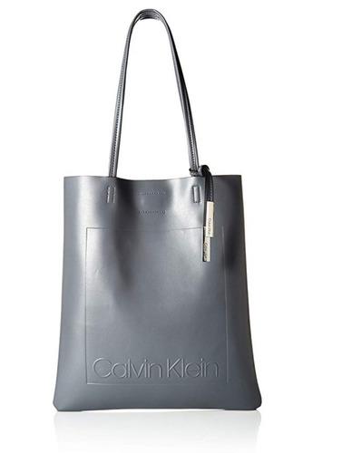 Calvin Klein Bolsa Original Importada Marca Relieve Gris Ck e61e593257