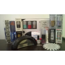 Kit Master Lacquer Evolution, Gelish+ Lampara+ 7 Lacquers +.