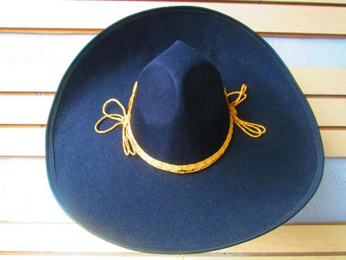 Sombrero Charro Mariachi Negro Toquila Adulto Mexico en venta en ... f7ca2333431