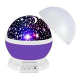 Lámpara Proyector Estrellas Giratorias Niños Bebés Led Nueva