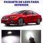 Honda Civic 2013 2016 Paquete Led Para Interior Kit Blanco