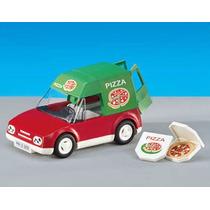 Playmobil 6292 Coche D Pizzas Servicio Add On Ciuda Retromex