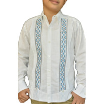 6d76577d0b Camisa Guayabera Yucateca Casual Lino Niño  cfkalx1212 en venta en ...