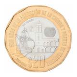 Moneda De 20 Pesos Conmemorativa De Los 500 Años De Veracruz