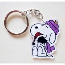 Snoopy Con Plumita Precioso Llavero Acrílico Plástico 0830