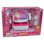 Caja Registradora De Barbie Sonidos Calculadora Mattel