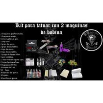 Kit Tatuaje Profesional 2 Maquinas ,tintas,grips , Tips
