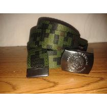 Cinturon Militar Pixel Verde Olivo Ejercito Mexicano Sedena