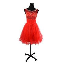 Baituya Rojo Vestido De Boda Piesta De Chifon Corto Elegant