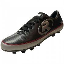 Tenis Zapato Futbol Rapido R55 Negro Plata Ruggel Galgo