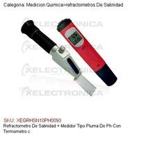 Refractometro Salinidad + Medidor Tipo Pluma Ph C/termometro