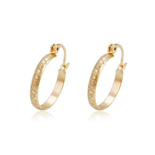 9b15b6ae54e4 Finas Arracadas Diamantandas De Oro 14k Lam 2.3 Cm en venta en ...
