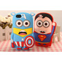 Funda Protector Silicon Minion Iphone 4/4s + Regalos Webtec