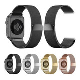 Correa Milanes Metal Acero Apple Watch Serie 1 2 3 4 Y 5
