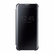 Funda Samsung Galaxy S7 Edge S-view Flip Cover Clear Negra
