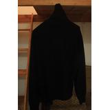 Suéter Benetton De Cuello Alto Color Negro ~~~envío Gratis~~