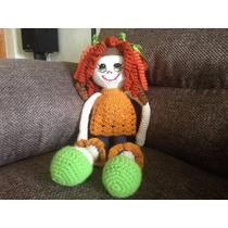 Muñeca Hecha A Mano Tejida Crochet. Para Niñas. Amigurimi