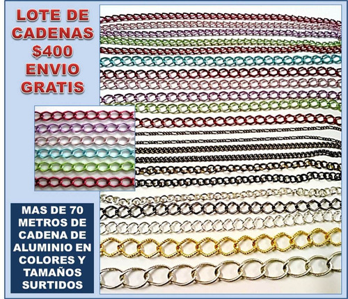 2035cac12d83 Lote De Cadena Para Joyería Y Bisutería