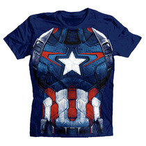 Playera Civil War Team Captain America Marvel Avengers