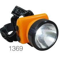 Linterna Minero 1 Led 2 Niveles Luz Lampara Cabeza Ajustable