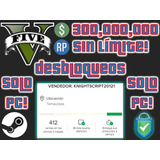 Gta V Online [solo Pc] 300 Millones + Nivel 300  100% Seguro