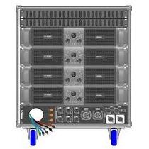 Amplificador Proel Rack Lineal Axracks3