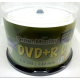 Dvd-r Dl Doble Capa Imprimible Green Master 16x 8.5 Gb Full