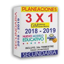 Planeaciones Secundaria 2018 - 2019 Nuevo Modelo Educativo