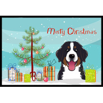 Árbol De Navidad Y Perro De Montaña Mat Interiores O Exter
