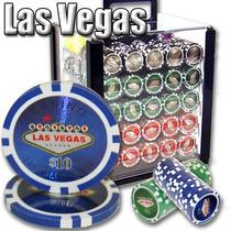 Poker Estuche Acril 1000 Fichas Casino 14 Gr Las Vegas Laser