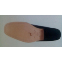 Zapato Para Caballero Piel De Becerro/venado Y Forro De Res