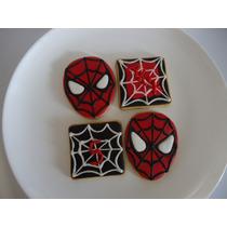 Deliciosas Galletas Decoradas Niños Spiderman, Hombre Araña