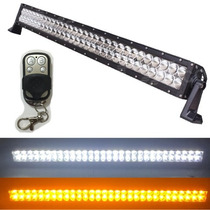 Barra Led 180w 31.5 Pulg Ambar Bco Jeep Polaris Rzr Can Am