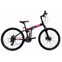 Bicicleta Plegable Aluminio Rodada 26, 21 V , Frenos Disco