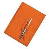 Cross Autocross Leather Agenda Personal Tangerine  Ac134-12