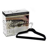 Kit De 50 Ganchos De Ropa Con Terciopelo Negros