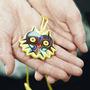 Ocarina Necklace Majora Mask 6 Orificios C/ Cancionero Zelda