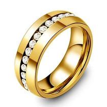 Anillo De Matrimonio 6mm Zirconias De Acero De Tungsteno