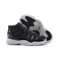 Tenis Nike Jordan 11 Negro Piel Genuinos
