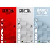 Keratina Japonesa + Neutro + Shock Restaurador X 1500 Ml