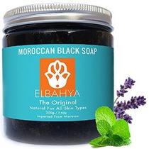 Orgánica Marroquí Jabón Negro Con Aceite Esencial De Lavanda