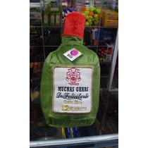 Peluche Cojin Botella/botellon Tipo Whisky Buchanans P/papa