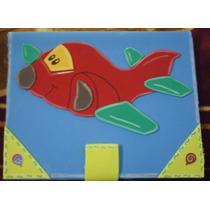 Libreta Decorada Con Foamy Tamaño Profesional (avión)