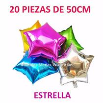 Globo Metalico Estrella Mayoreo 20 Piezas Recuerdos Xv Años