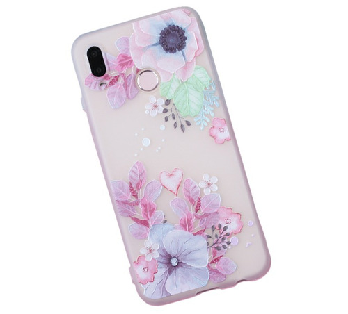 Funda Textura Flores Ergonómica Relieve Tpu Flexible Xiaomi