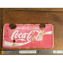 Placa De Lámina Coca Cola De Los Años 80-90s