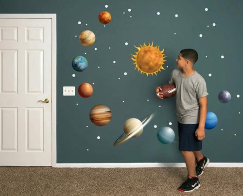 Vinilos Decorativos Planetas.Vinilo Decorativo Sistema Solar Planetas Espacio Sol En