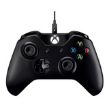 Control Joystick Microsoft Xbox One Controller + Cable For Windows Negro