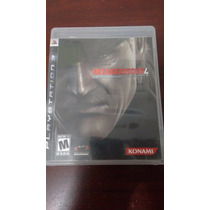 Vendo Metal Gear Solid 4 Guns Of The Patriots Ps3